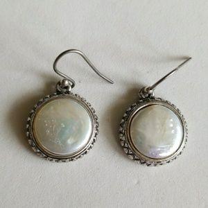 Pearl top DANGLE earrings